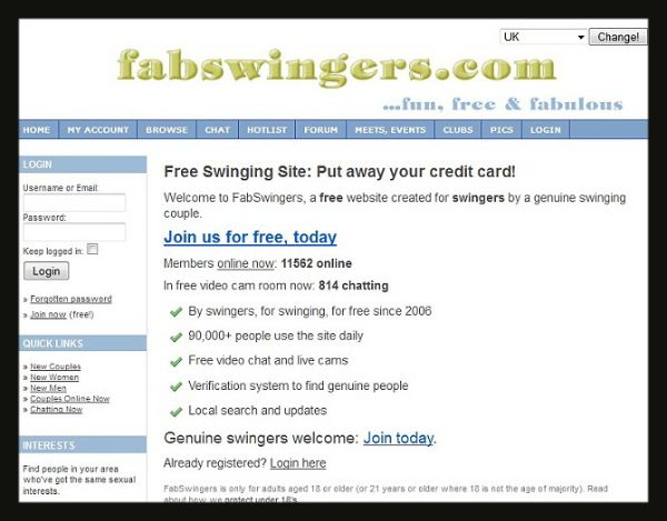 Your free to use site swinger sorry